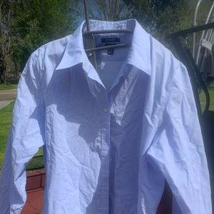 Chaps xxl blue no iron dress shirt